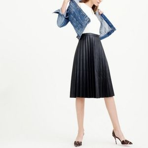 J. Crew Two Tone Pleated Leather Combo Dress 00
